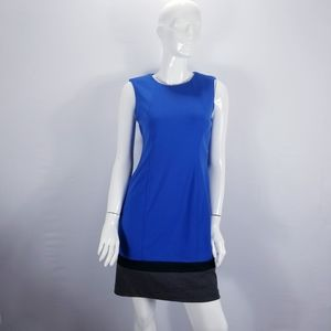 Calvin Klein Sheath Dress Color Block Hemline 8